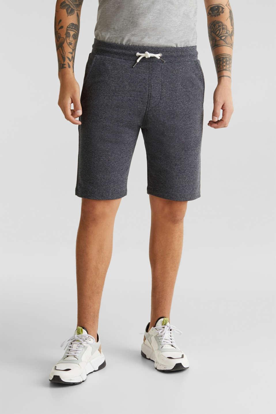 Sweatshirt fabric shorts, BLACK, detail image number 0