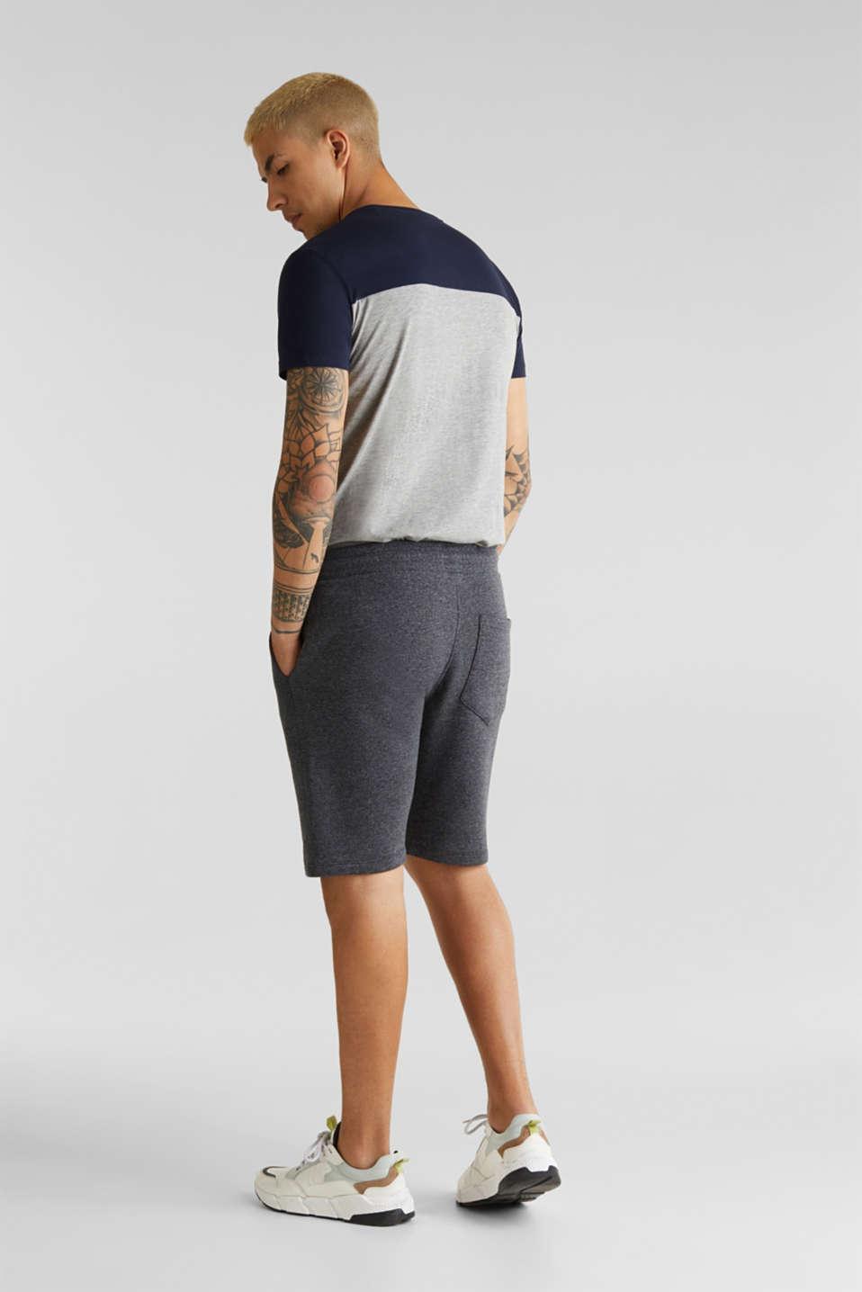 Sweatshirt fabric shorts, BLACK, detail image number 3