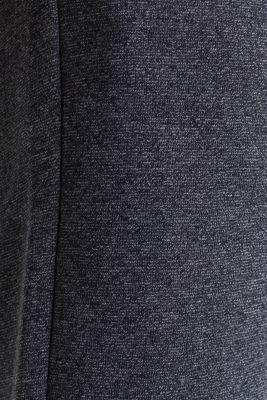 Sweatshirt fabric shorts, BLACK, detail