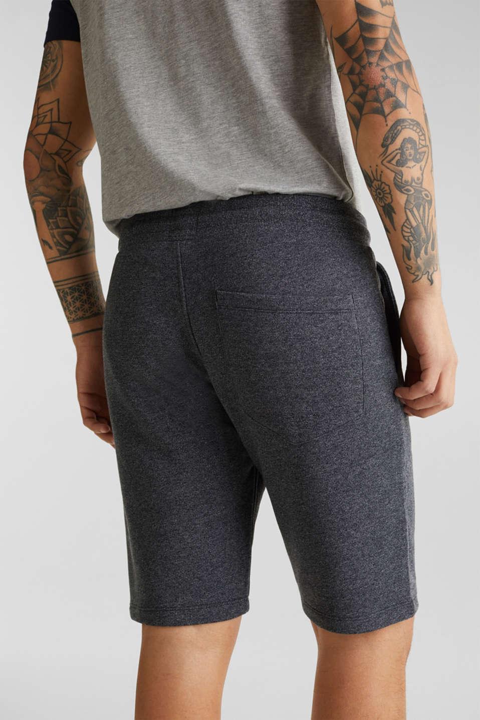 Sweatshirt fabric shorts, BLACK, detail image number 5