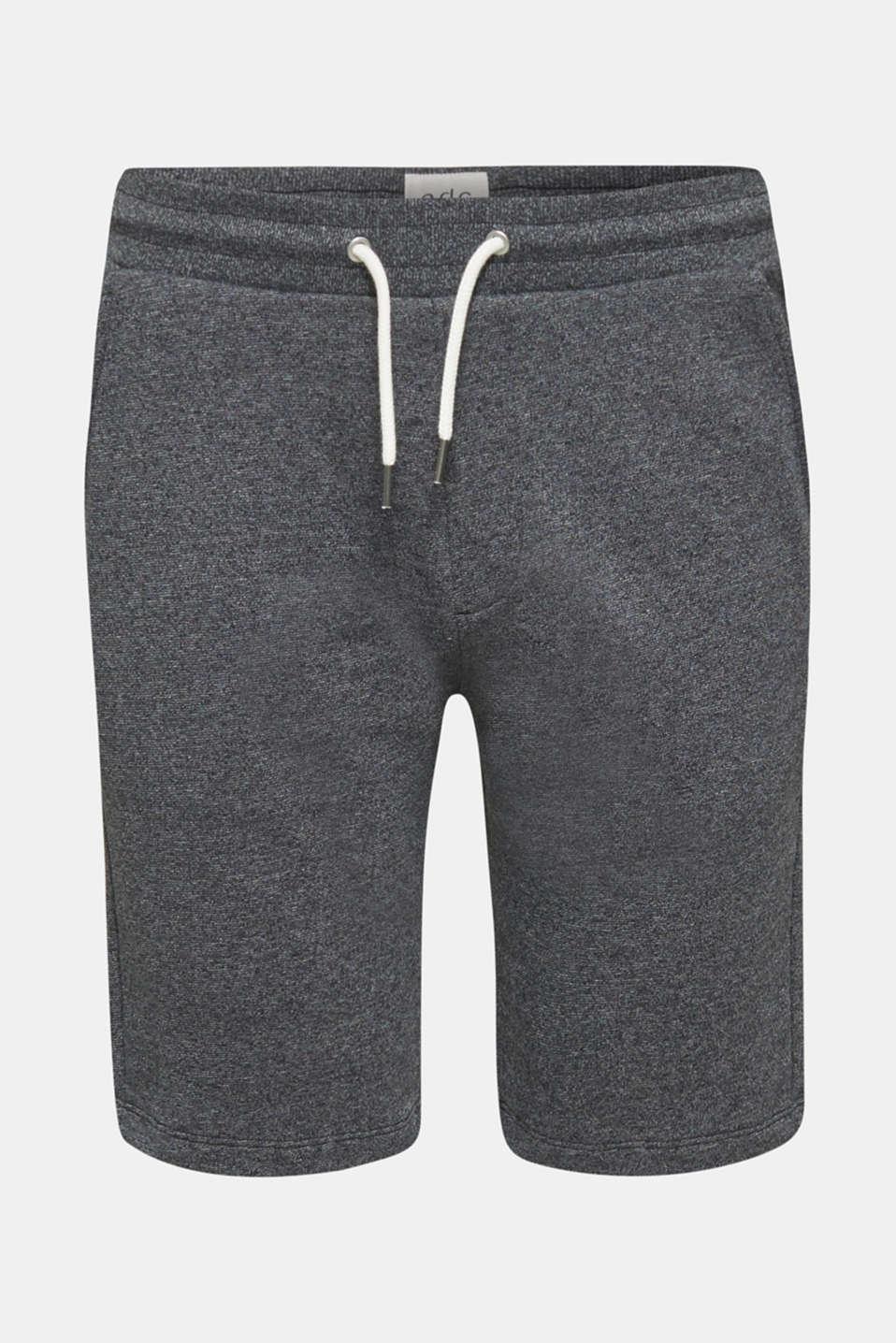 Sweatshirt fabric shorts, BLACK, detail image number 6