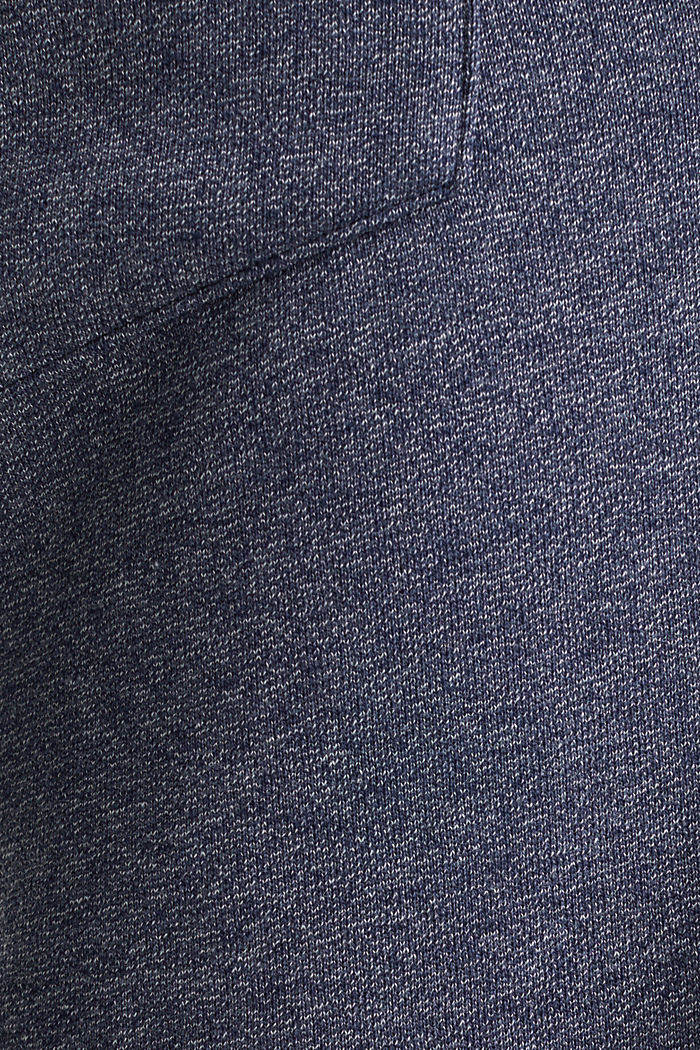 Sweatshirt fabric shorts, NAVY, detail image number 3