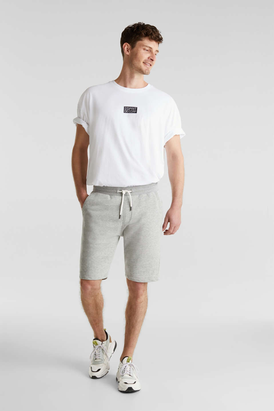 edc - Sweat-Shorts aus Baumwoll-Mix