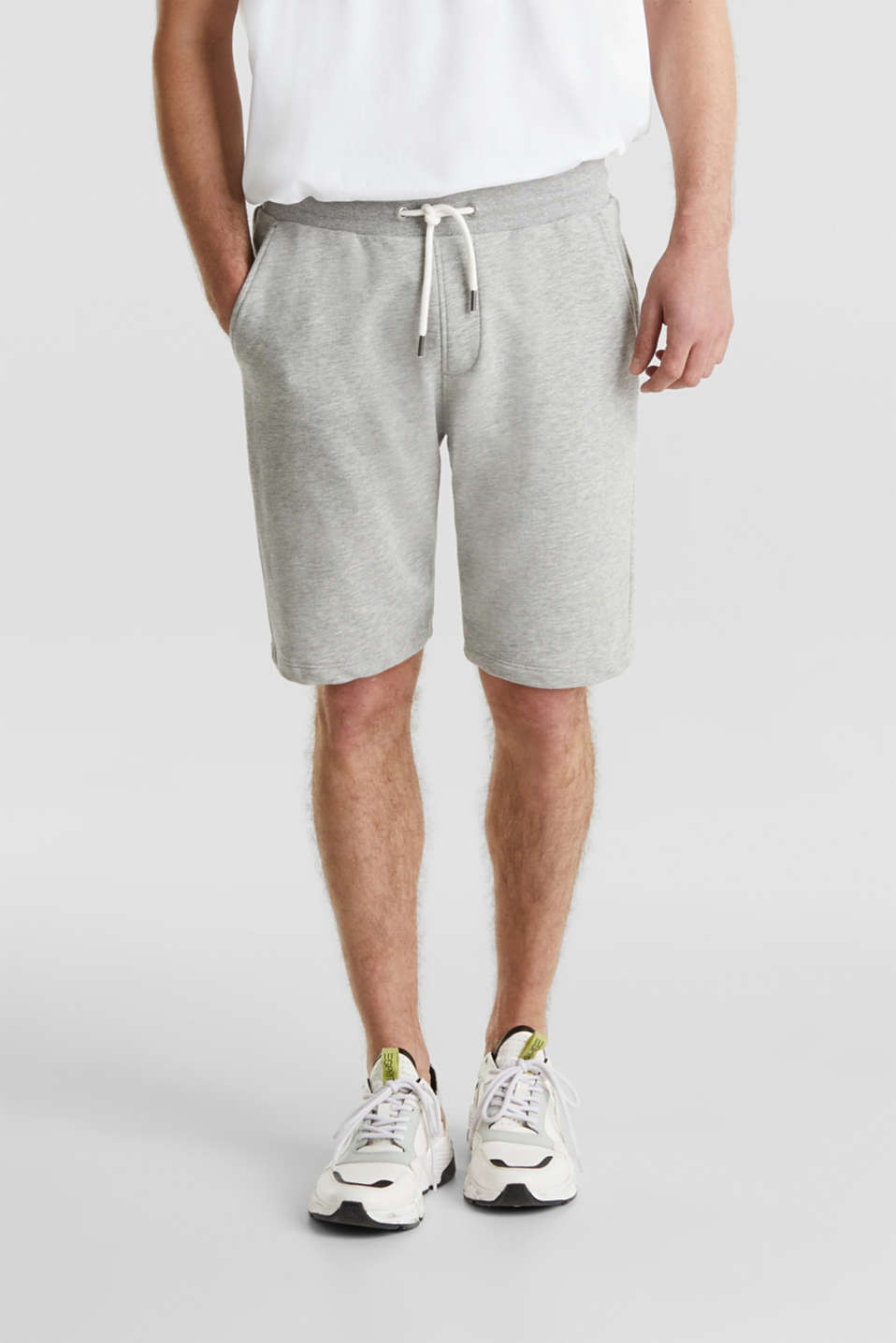 Blended cotton sweat shorts, MEDIUM GREY 5, detail image number 3