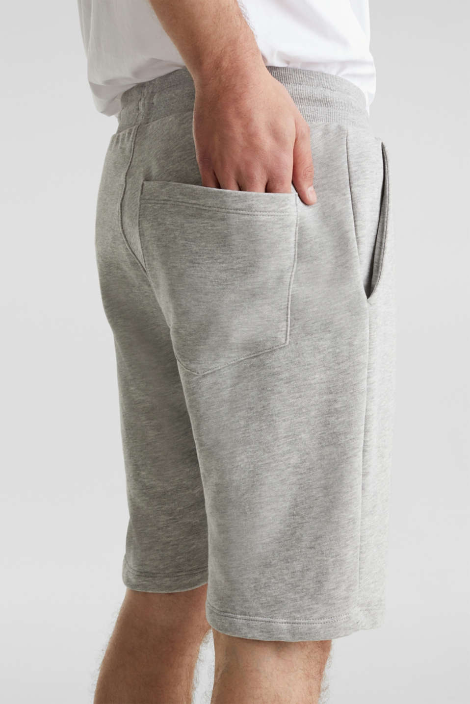 Blended cotton sweat shorts, MEDIUM GREY 5, detail image number 5