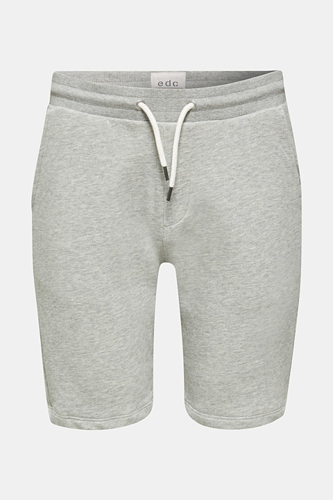 Blended cotton sweat shorts