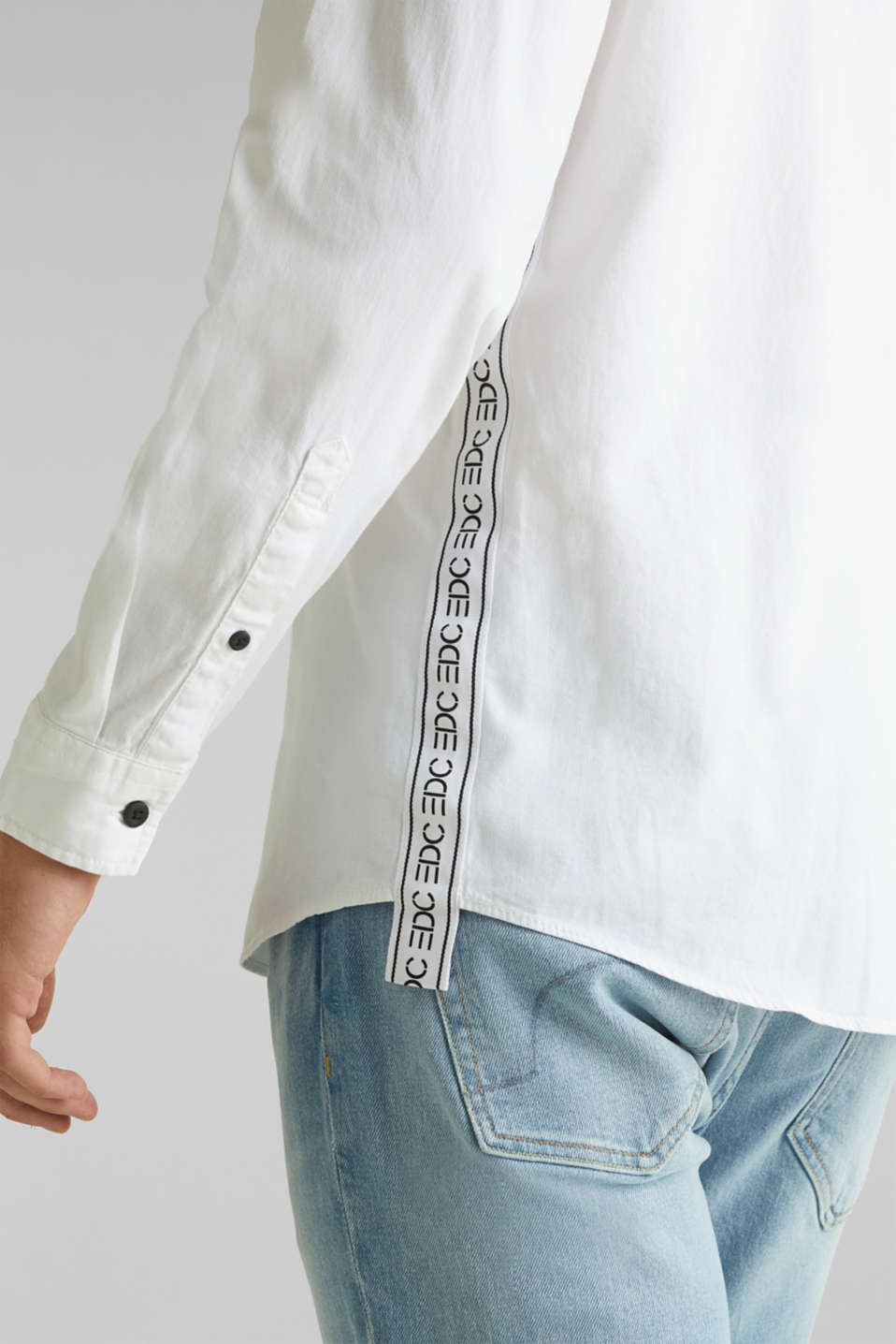 Button-down shirt in 100% cotton, WHITE 5, detail image number 5