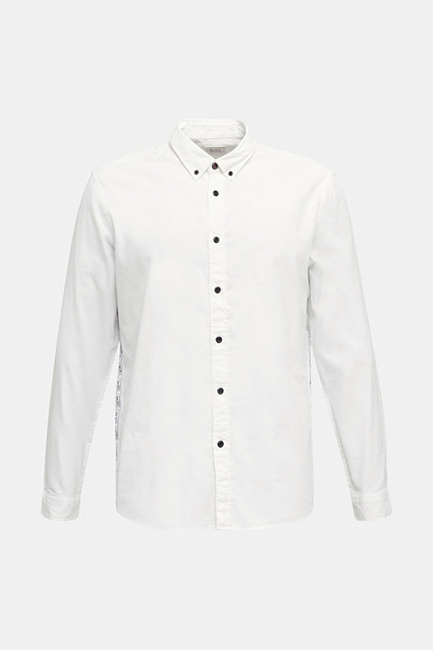 Button-down shirt in 100% cotton