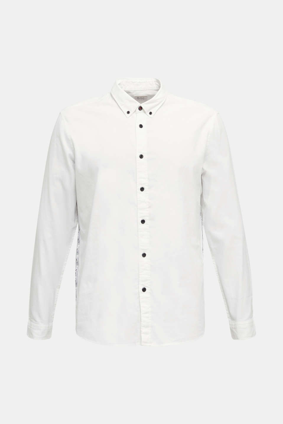 Button-down shirt in 100% cotton, WHITE 5, detail image number 7