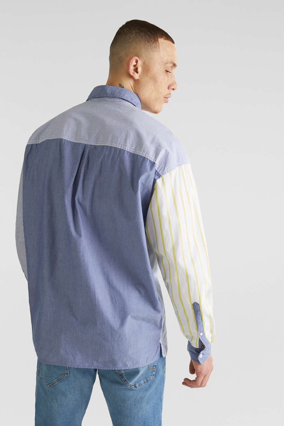 Patchwork shirt made of 100%, INK 3, detail image number 2