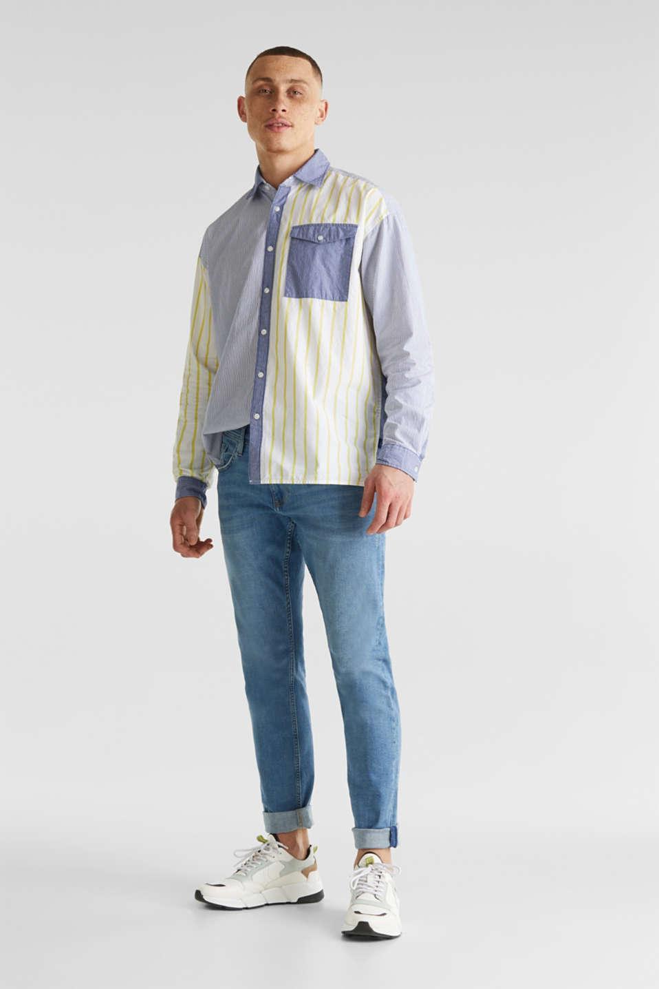 Patchwork shirt made of 100%, INK 3, detail image number 1