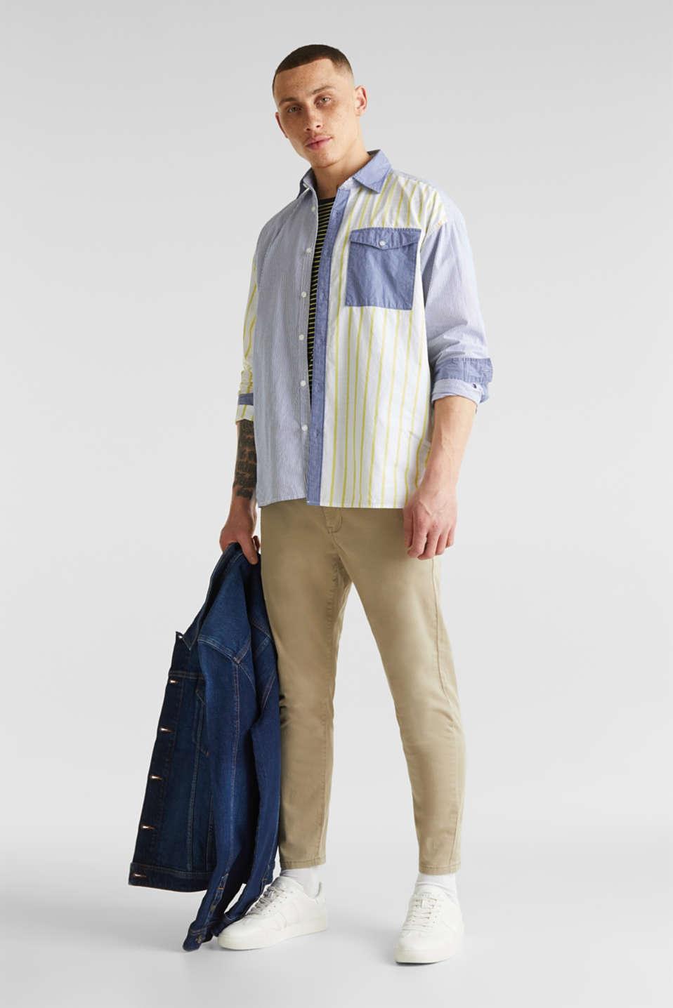 Patchwork shirt made of 100%, INK 3, detail image number 6