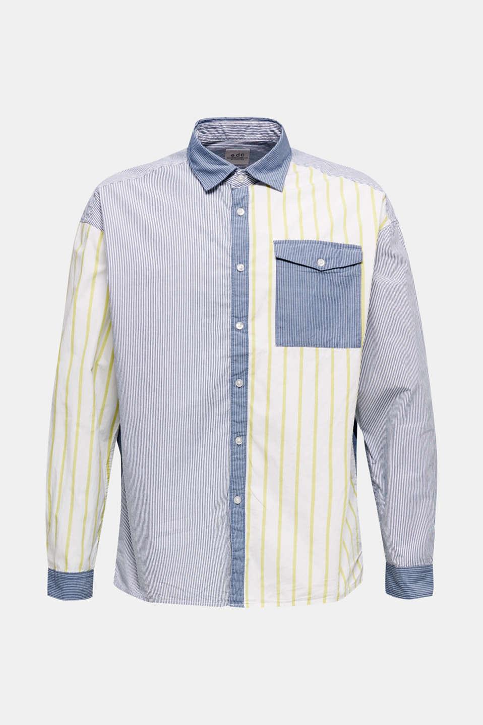 Patchwork shirt made of 100%, INK 3, detail image number 7