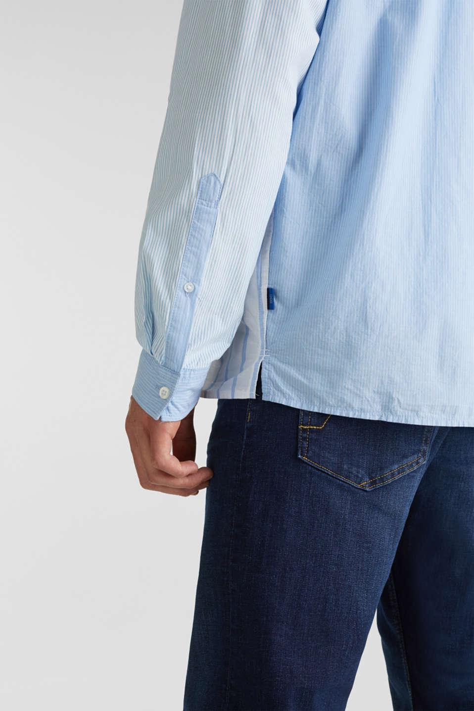 Patchwork shirt made of 100%, LIGHT BLUE 3, detail image number 1