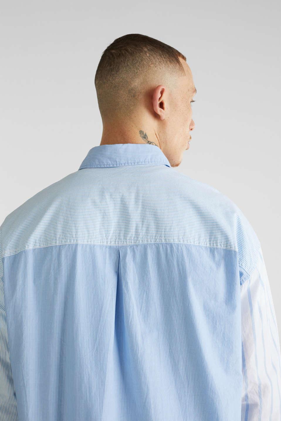 Patchwork shirt made of 100%, LIGHT BLUE 3, detail image number 4