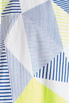 Shirt with a geometric print, 100% cotton, WHITE 4, detail