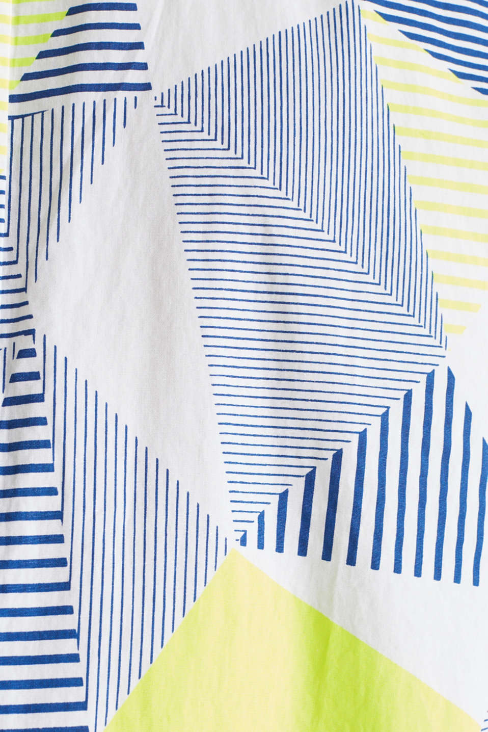 Shirt with a geometric print, 100% cotton, WHITE 4, detail image number 4