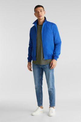 Nylon bomber jacket, BLUE, detail