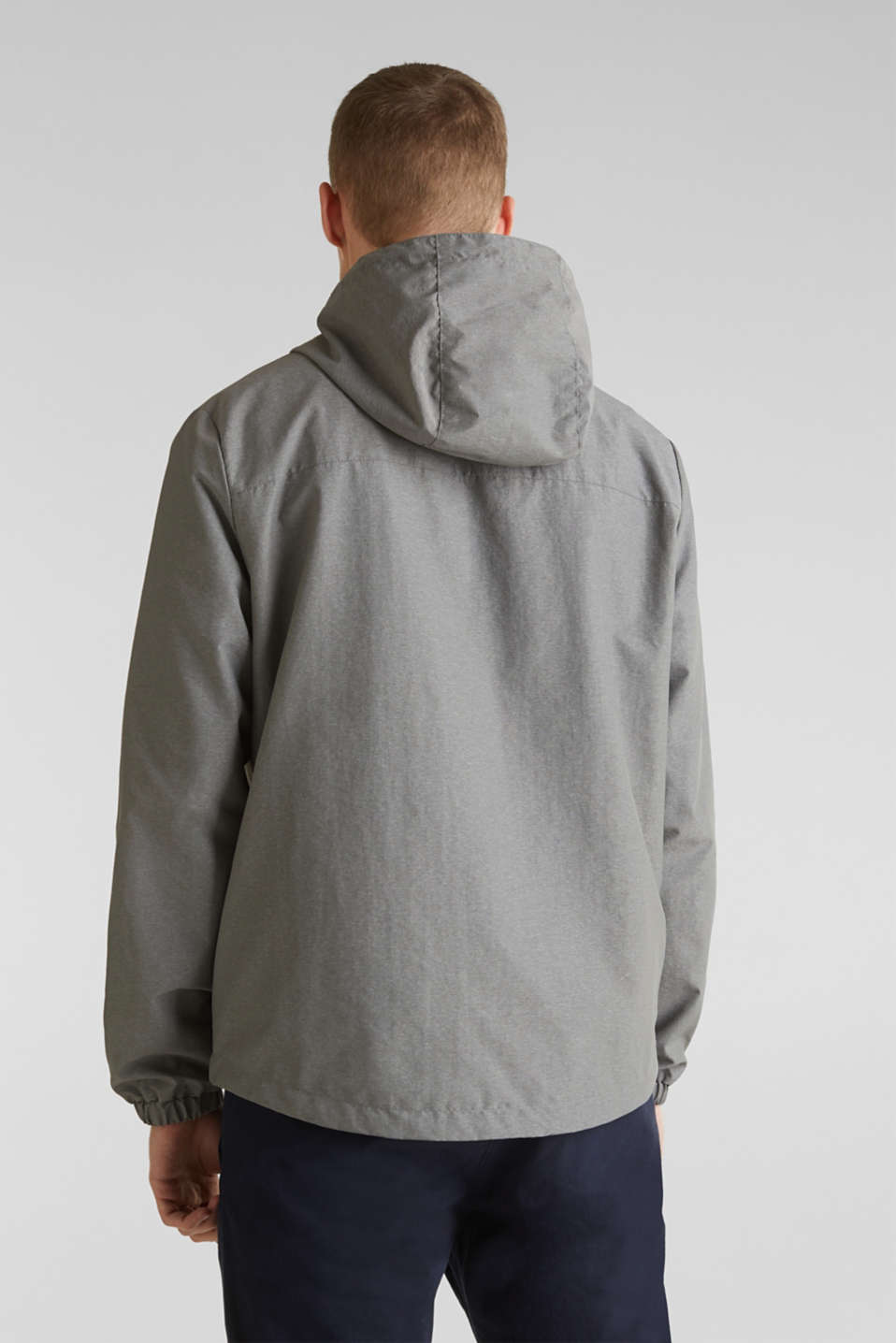 Rain jacket with hood, MEDIUM GREY 5, detail image number 3