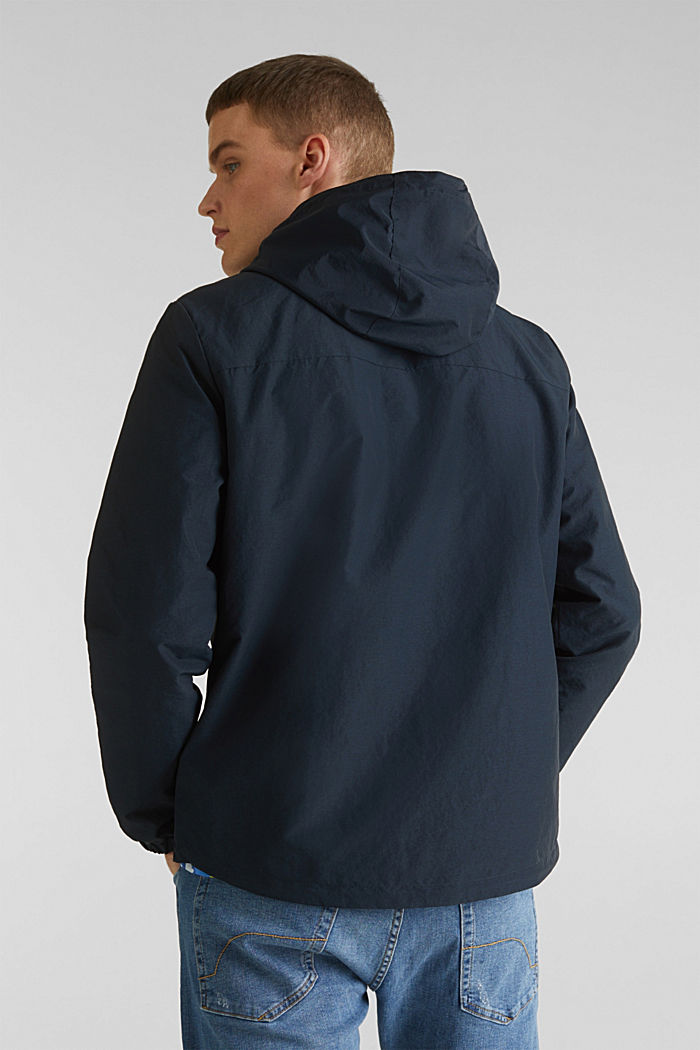 Rain jacket with hood, DARK BLUE, detail image number 3