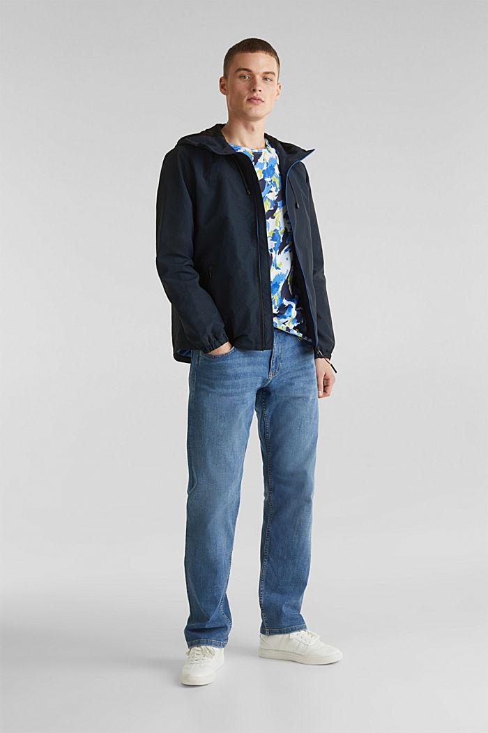 Rain jacket with hood, DARK BLUE, detail image number 1