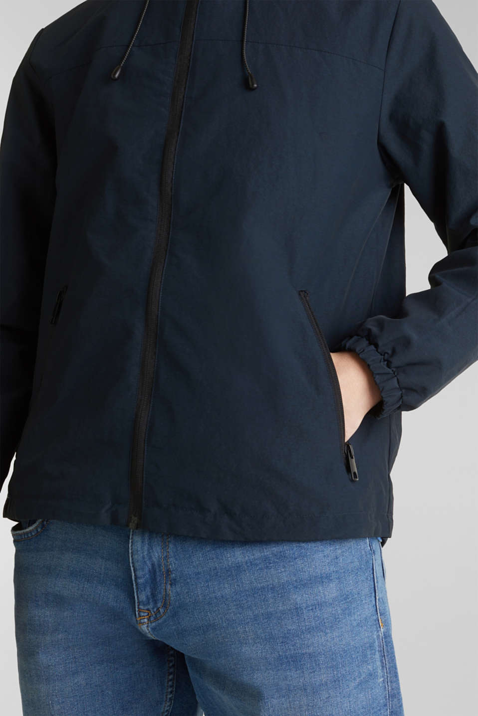 Rain jacket with hood, DARK BLUE, detail image number 2