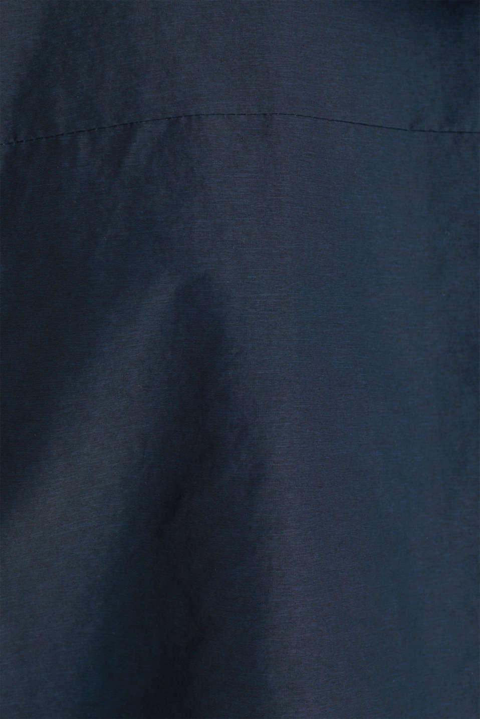 Rain jacket with hood, DARK BLUE, detail image number 4