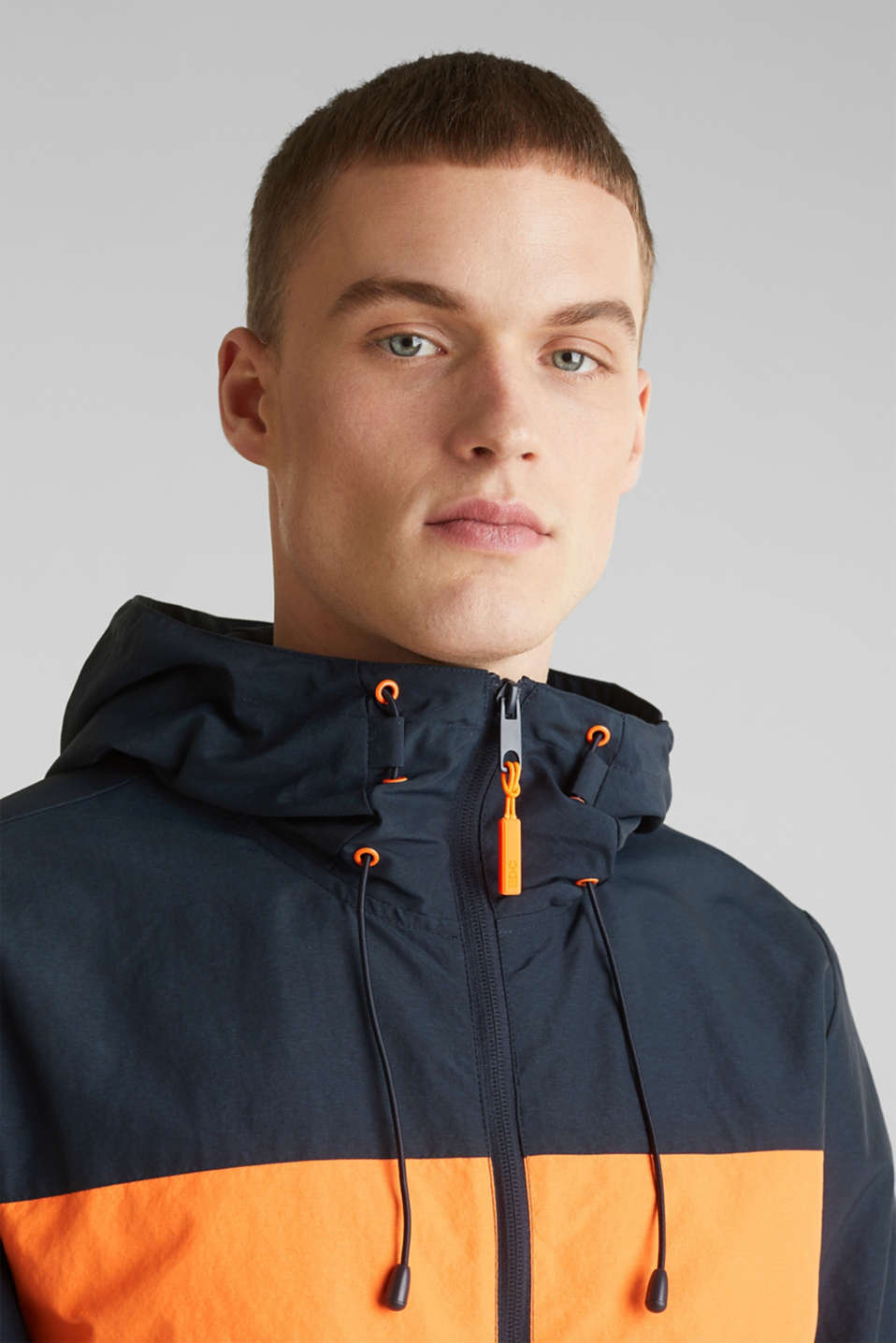 Rain jacket with hood, DARK BLUE 2, detail image number 2