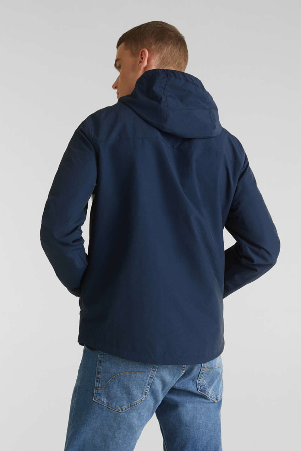Rain jacket with hood, BRIGHT BLUE 2, detail image number 3