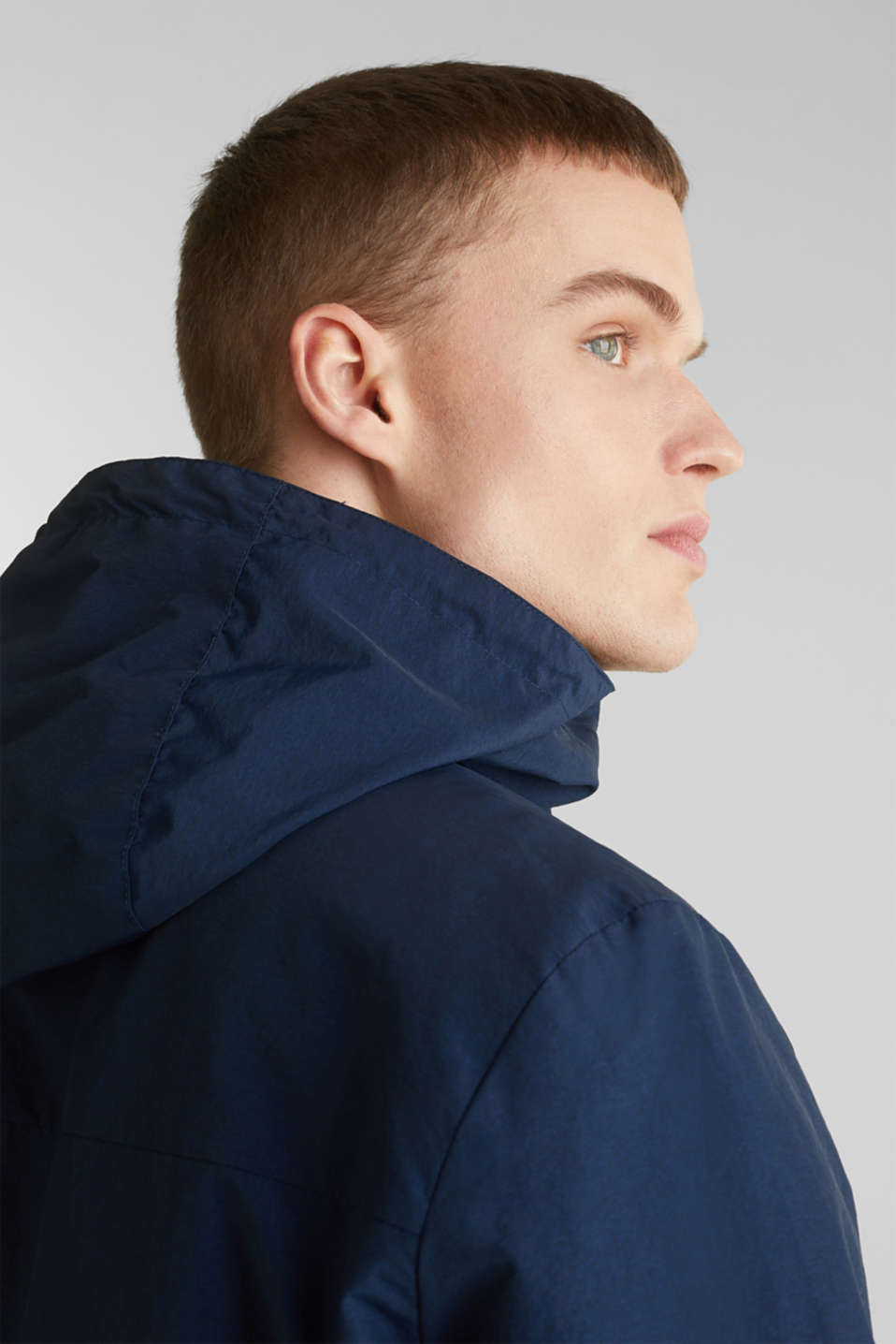 Rain jacket with hood, BRIGHT BLUE 2, detail image number 5