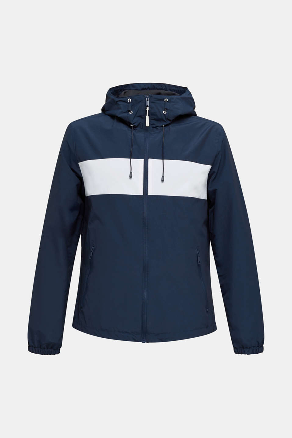 Rain jacket with hood, BRIGHT BLUE 2, detail image number 7