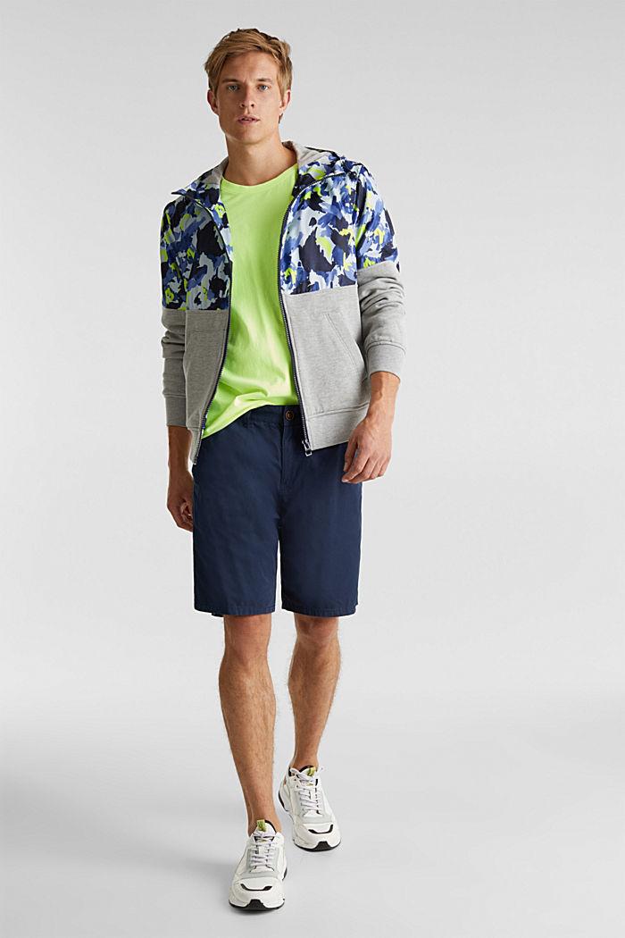 Hooded jacket made of sweatshirt fabric and nylon, MEDIUM GREY, detail image number 1