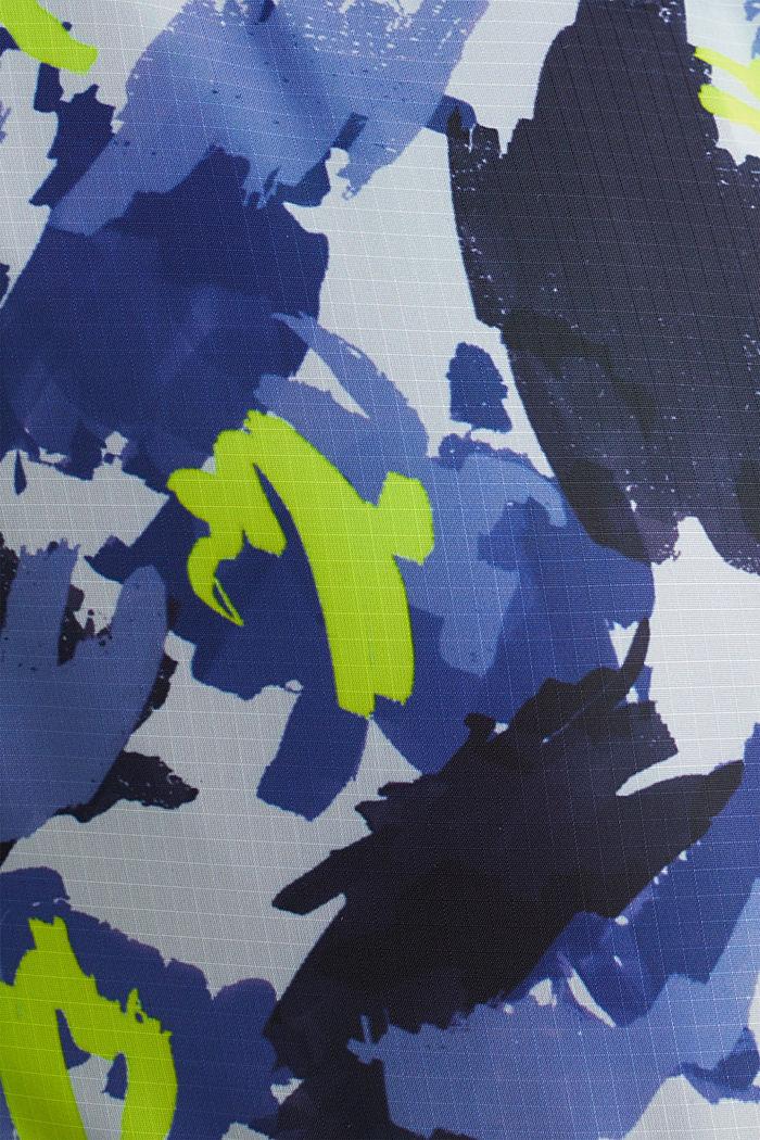 Hoodie van sweatstof en nylon, MEDIUM GREY, detail image number 4
