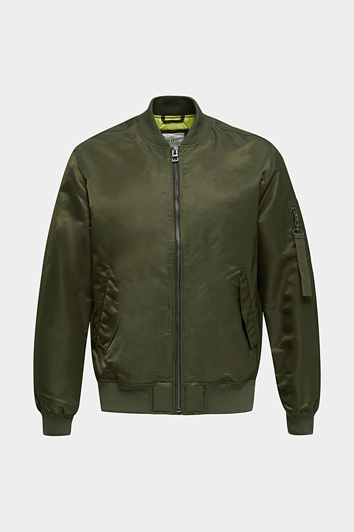 Bomber jacket with ribbed borders
