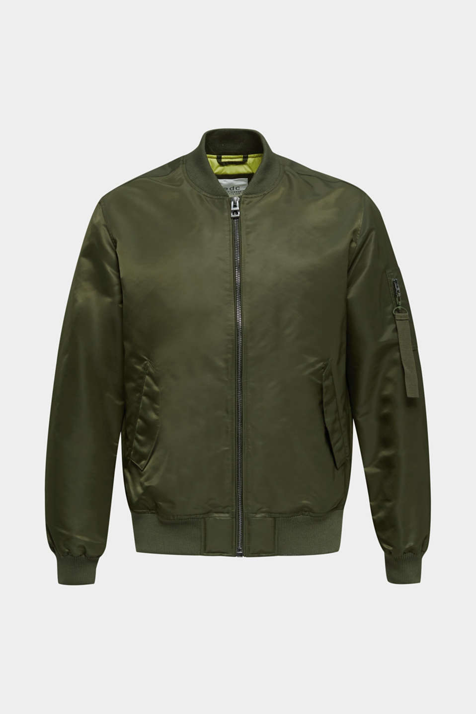 Bomber jacket with ribbed borders, GREEN, detail image number 8