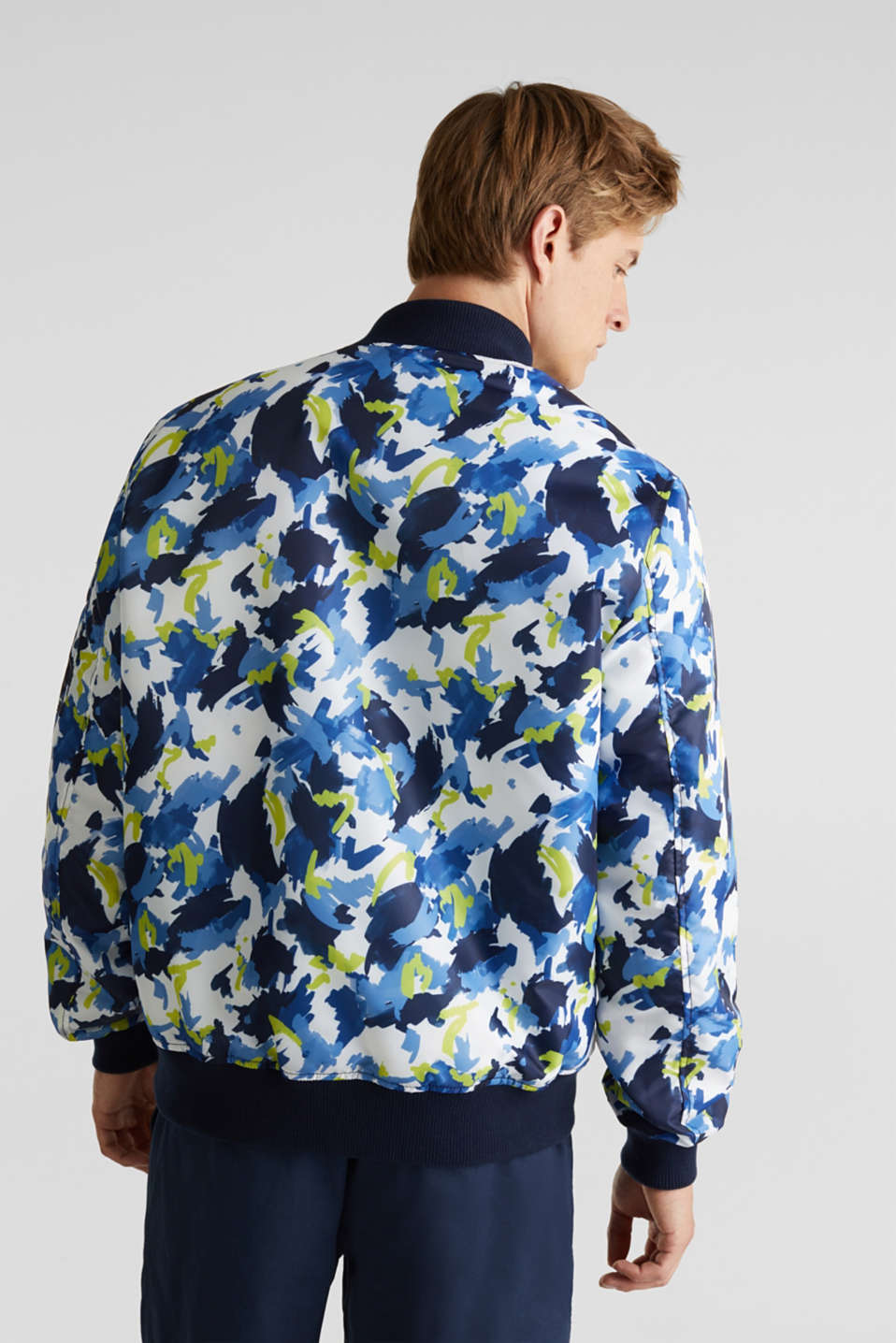 Bomber jacket with multicoloured print, NAVY 4, detail image number 3