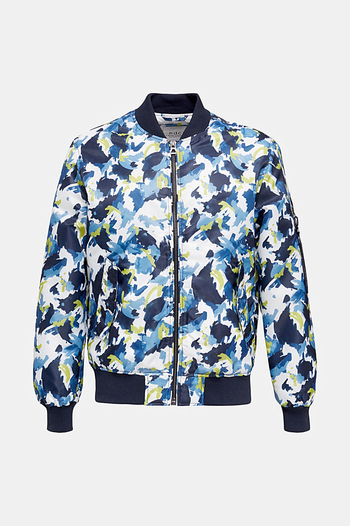 Bomber jacket with multicoloured print, NAVY, detail image number 6