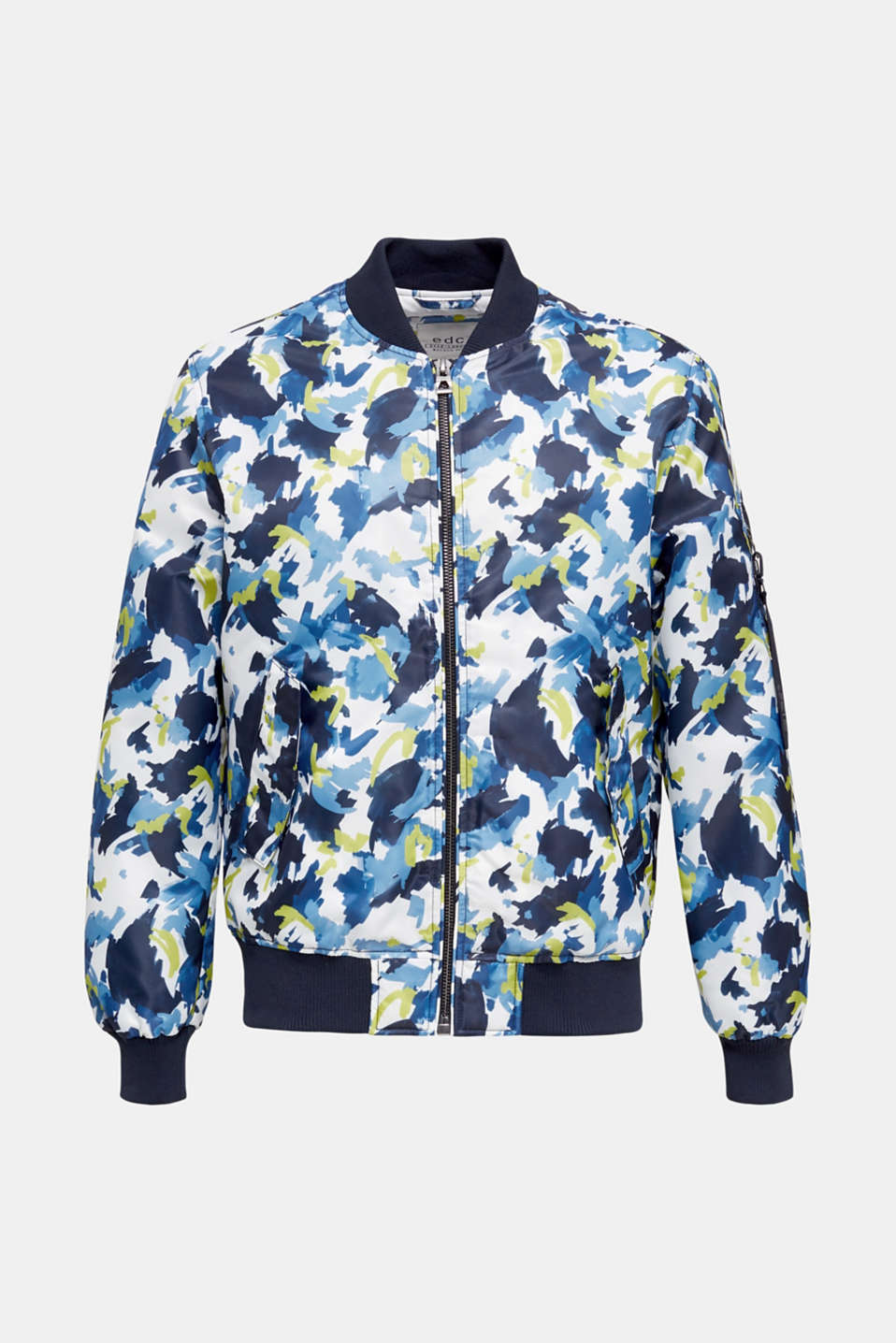 Bomber jacket with multicoloured print, NAVY 4, detail image number 8