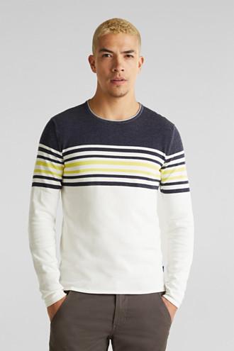 Colour block jumper, 100% cotton