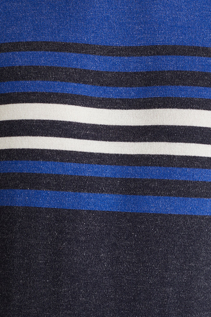Pull-over au look colour blocking, 100% coton, BLUE, detail image number 4