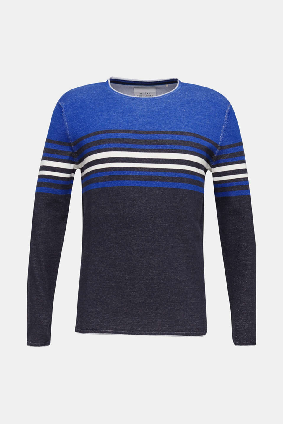 Colour block jumper, 100% cotton, BLUE 3, detail image number 6