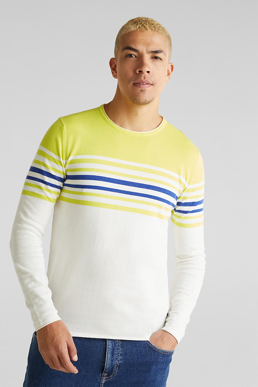 Pullover im Color-Block-Look, 100% Baumwolle
