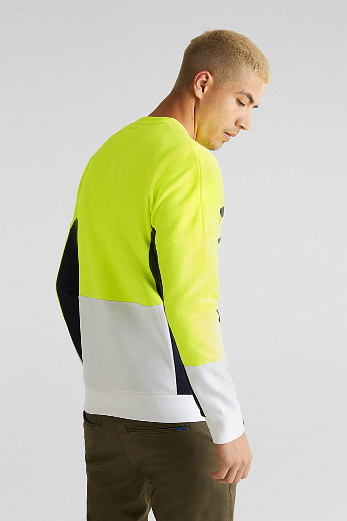 NEON sweatshirt with logo, BRIGHT YELLOW, detail image number 3