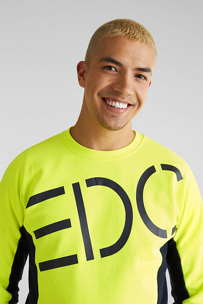 NEON sweatshirt with logo, BRIGHT YELLOW, detail image number 5