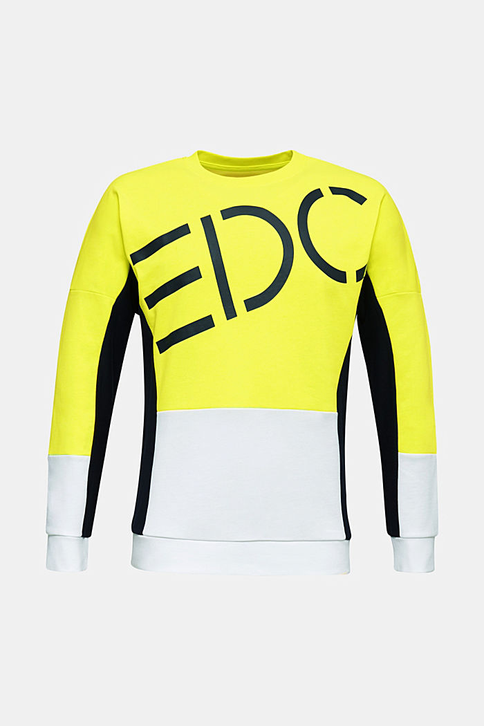 NEON sweatshirt with logo, BRIGHT YELLOW, detail image number 6