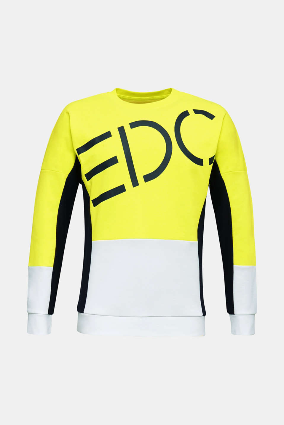 NEON sweatshirt with logo, BRIGHT YELLOW 2, detail image number 6