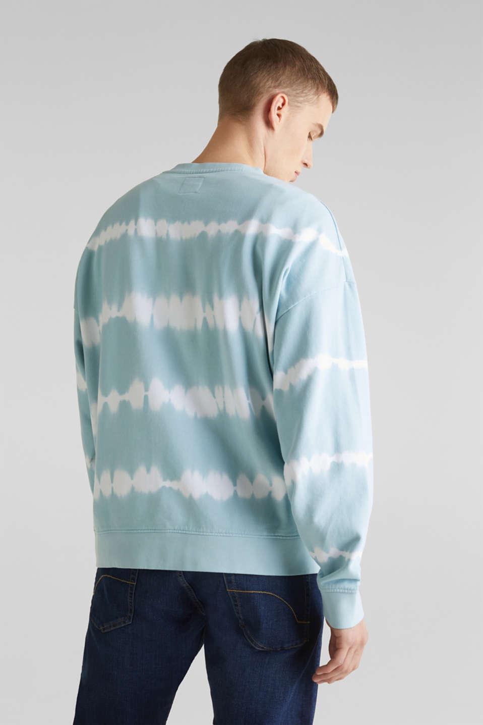 Batik sweatshirt with organic cotton, LIGHT BLUE 4, detail image number 3