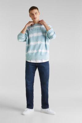 Batik sweatshirt with organic cotton, LIGHT BLUE 4, detail