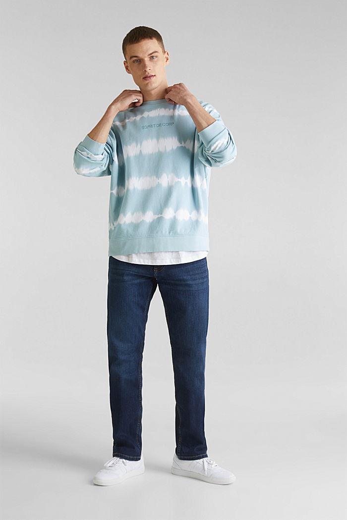 Batik-Sweatshirt mit Organic Cotton, LIGHT BLUE, detail image number 1