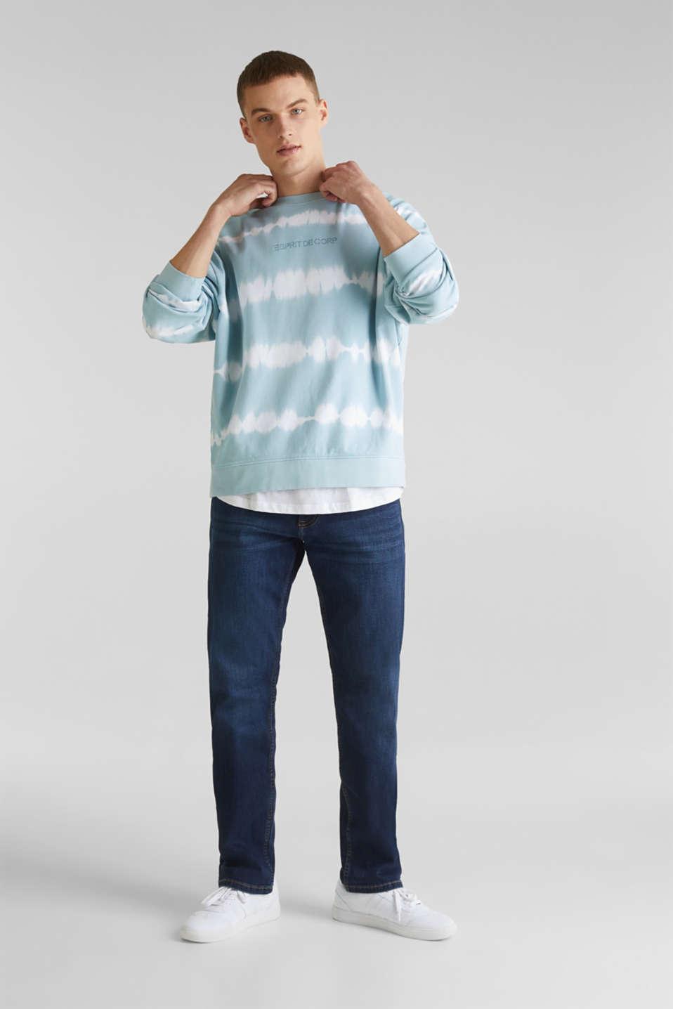 Batik sweatshirt with organic cotton, LIGHT BLUE 4, detail image number 1